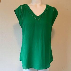41 HAWTHORN Green Blouse FREE w/ Bundle